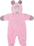 Верхняя одежда  Picollino  велюровый Мишка утепленный СК3-КМ001 (в) розовый горох, 68-44(22) 6 мес.