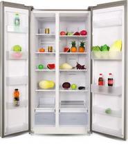 Холодильник Side by Side  Ginzzu  NFK-580 черное стекло