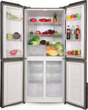 Многокамерный холодильник  Ginzzu  NFK-500 белое стекло
