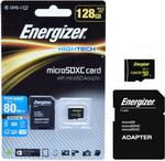 Карта памяти  Energizer  128 GB MicroSDXC class 10 UHS-I с адаптером