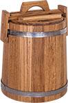 Емкость для консервации и заготовок  БонПос  дубовая 10 л НЖ с гнетом