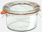 Емкость для хранения продуктов  Weck  Банка 0,165л конус перевернут d8см h4,7см с крышкой, стекло
