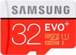 Карта памяти  Samsung  MicroSDHC 32 ГБ class 10 UHS-I EVO+ с адаптером