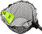 Аксессуар для рыбалки  Tsuribito  NET TRAP Fold с прорезиненной сеткой, складной, длина 170 см, диаметр 70х60 см 123583