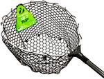 Аксессуар для рыбалки  Tsuribito  NET TRAP Tele c черной силиконовой сеткой, телескопический, длина 140-210см, диаметр 46см YJN-514021