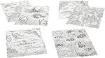 Товар для творчества  Bondibon  Набор раскрасок антистресс Море, 6 листов 30х21 см ВВ1715