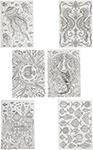 Товар для творчества  Bondibon  Набор раскрасок антистресс Океан, 6 листов 30х21 см ВВ1710