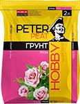 Удобрение и грунт  PETER PEAT  Роза, линия ХОББИ, 2л