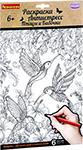 Товар для творчества  Bondibon  Набор раскрасок антистресс Птицы и Бабочки, 6 листов 30х21 см ВВ1975