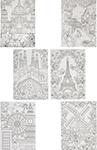 Товар для творчества  Bondibon  Набор раскрасок антистресс Чудесная Европа, 6 листов 30х21 см ВВ1713