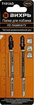 Оснастка для электроинструментов  Вихрь  Т101АО по ламинату, чистый, криволинейный рез 76х50мм (2 шт)