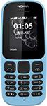 Мобильный телефон  Nokia  105 2017 Dual Sim голубой (cyan)