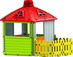 Детский игровой домик  Dolu  Городской дом с ограждением DL_3011