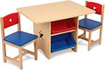 Стол и стул  KidKraft  ``Star`` (стол 2 стула 4 ящика) 26912_K