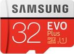 Карта памяти  Samsung  MicroSDHC 32 Гб class 10 UHS-I EVO+ с адаптером MB-MC 32 GA/RU