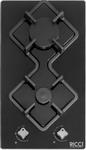 Встраиваемая газовая варочная панель  Ricci  RGN-KA 2001 BL Черное стекло