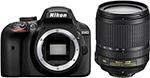 Фотоаппарат  Nikon  D 3400 черный KIT AF-P 18-105 VR