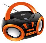 Магнитола  Hyundai  H-PCD 120 чёрный/оранжевый
