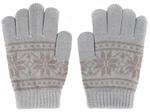 Варежки и перчатки  Picollino  GL-10580 grey fw 18, 18 (12 лет), Серый