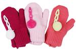 Варежки и перчатки  Hobby Line  MARGOT BIS ``Itaka`` двойные с помпоном д/д, р.10 фуксия