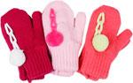 Варежки и перчатки  Hobby Line  MARGOT BIS ``Itaka`` двойные с помпоном д/дРм.10 Розовый