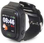 Детские часы с GPS поиском  Ginzzu  16139 505 black,1.22`` Touch, micro-SIM