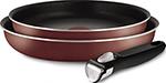 Набор посуды со съемной ручкой  Tefal  24/28/ручка 5 INGENIO RED 04175820