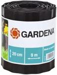Садовый бордюр и ограждение  Gardena  черный 20 см, длина 9 м 00534-20