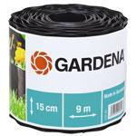 Садовый бордюр и ограждение  Gardena  черный 15 см, длина 9 м 00532-20