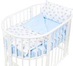 Комплект постельного белья  Sweet Baby  Yummy Blu (Голубой) в круглую/овальную кровать, 4 предмета