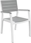 Мебель для дачи  Keter  Harmony arm белый серый 17201284