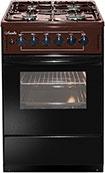 Комбинированная плита  Лысьва  ЭГ 401-2у коричневая