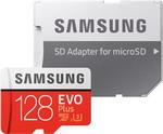 Карта памяти  Samsung  128 GB MicroSDXC class 10 UHS-I EVO+ MB-MC 128 GA/RU