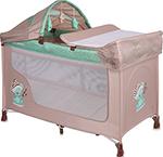 Манеж  Lorelli  San Remo 2 Plus Бежево-зеленый / Beige&Green Sleeping Bear 10080081802