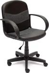 Офисное кресло  Tetchair  BAGGI (кож/зам/ткань, черный/серый, 36-6/207)