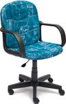 Офисное кресло  Tetchair  BAGGI (ткань, принт ``Джинса``)