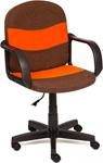 Офисное кресло  Tetchair  BAGGI (ткань, коричневый/оранжевый, 3М7-147/С23)
