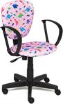 Офисное кресло  Tetchair  СН413 (ткань, принт ``Динозаврики на розовом``)