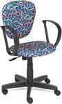 Офисное кресло  Tetchair  СН413 (ткань, принт ``Карандаши на синем``)