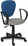 Офисное кресло  Tetchair  СН413 (ткань, серый/синий, С27/С24)