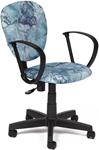 Офисное кресло  Tetchair  СН413 (ткань, принт ``Карта на синем``)