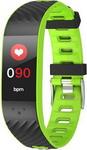 Умные часы и браслет  Qumann  QSB 12 зеленый-черный