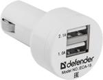 Зарядное устройствo для мобильных телефонов, планшетов, ноутбуков  Defender  ECA-15 2 порта USB 83561