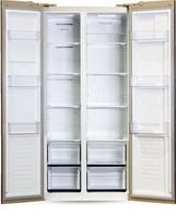 Холодильник Side by Side  Ginzzu  NFK-465 золотистое стекло