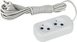 Стабилизатор напряжения, сетевой фильтр или ИБП  ЭРА  UX-2-1,5m (белый)