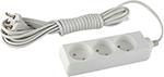 Стабилизатор напряжения, сетевой фильтр или ИБП  ЭРА  UX-3-1,5m (белый)