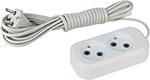 Стабилизатор напряжения, сетевой фильтр или ИБП  ЭРА  UX-2-3m (белый)