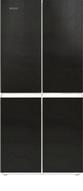 Многокамерный холодильник  Ginzzu  NFK-425 черное стекло