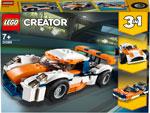 Конструктор  Lego  Оранжевый гоночный автомобиль Creator 3 in 1 31089