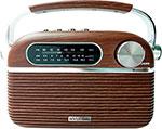 Радиоприемник и радиочасы  Hyundai  H-PSR 200 дерево коричневое/серебристый